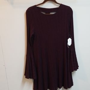 Altar'd State burgundy knit dress L NWT